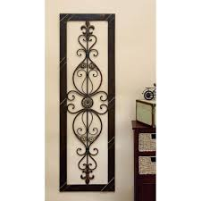 litton lane antique bronze 62 in fleur de lis wall decor 96553 the home depot