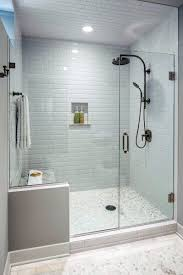 design ideas for subway tile walk in glass shower