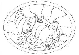 thanksgiving cornucopia stained glass pattern