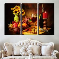 home wall decor print painting on canvas art 3 panel reto abstract wine g fruit vintage art for kitchen wall art picture in painting calligraphy from