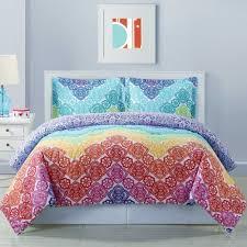 Intelligent Design Natalie 5 Piece Comforter Set Lace Chevron Reversible Comforter Set In Rainbow Comforter