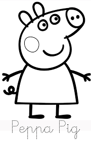 Small Picture Hello Peppa Pig and her family is here Print trace and colour