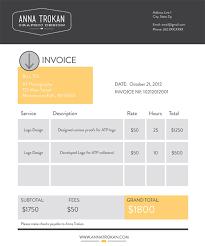 Beautiful Invoice Design Barca Fontanacountryinn Com