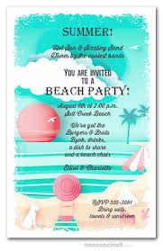 Beach Invitation View On The Beach Party Invitations