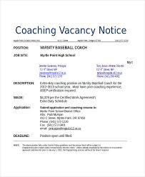 Resume Coach Simple Baseball Resume Template 60 Coach Resume Templates Pdf Doc Free