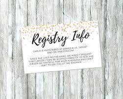 Baby Registry Cards