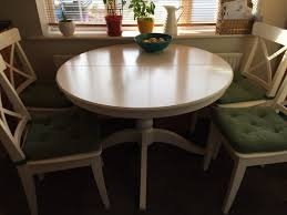 extendable table 4 to 6 ikea ingatorp white for in bray