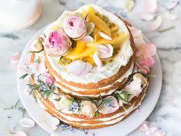 Victoria Sponge Style Citrus Cake With Lemon Curd And Mango