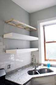 How Strong Are Floating Shelves Cool Ana White Bigger Stronger Kitchen Floating Shelves DIY Projects