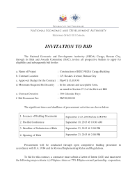 Tender Document Template Inspiration Invitation To Bid