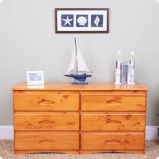 Discovery World Furniture Honey 6 Drawer Double Dresser