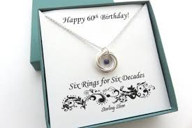 60th birthday gift birthstone necklace 60th birthday sterling silver birthday necklace 6th anniversary gift 60th anniversary gemstone