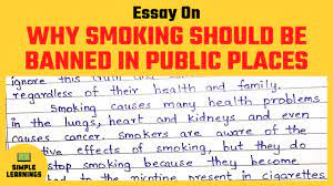 smoking should be banned essay in