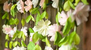 Paper Flower Backdrop Garland Paper Wedding Crafts By Lia Griffith Creativebug