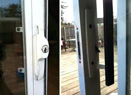 sliding patio door locks repair how to install sliding glass door key lock pella sliding door