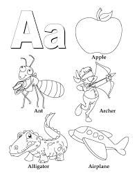 coloring book alphabet letters my a to z letter page free pdf