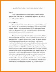 drugs essay persuasive essay on drugs examples of argumentative example of a problem solution essay cover letter problem solution example of a problem solution essay