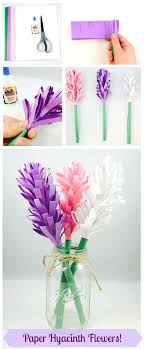 Easy Paper Hyacinth Flowers Hyacinth Flowers Construction Paper How To Make Colored Paper L
