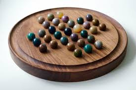 Wooden Game With Marbles Personalised Wooden Solitaire Boards Traditional Wooden Games 55
