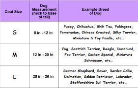 dog breed size chart dog coat sizing guide the pet warehouse pet warehouse