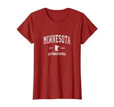 T Shirt Design Mn Amazon Com Retro Minnesota Mn Vintage Athletic Sports