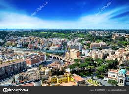 Rome Italie Avec Cité Vatican Célèbre Place Saint Pierre Vue