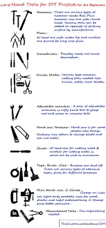 list of hand tools for diy projects for