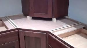 Appliance Garages Kitchen Cabinets Installing Kitchen Cabinets With Appliance Garage Youtube