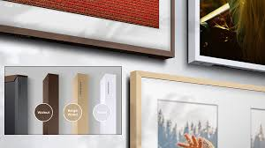samsung tv picture frame. a variety of frames to match your style samsung tv picture frame t