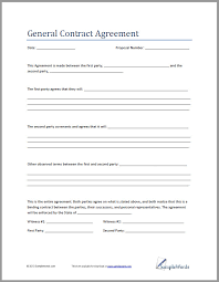 Contract Agreement Template Between Two Parties Free Contract Agreement Template Between Two Parties