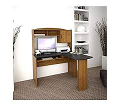 L office desk Cheap Image Unavailable Amazoncom Amazoncom Corner Shaped Office Desk With Hutch Black And Alder