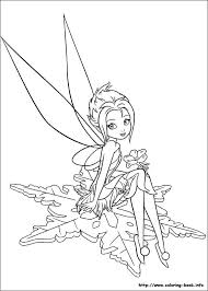 Small Picture Disney Fairies Coloring Page Free Download