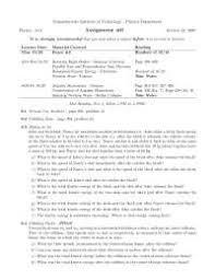 classical mechanics assignment physics docsity classical mechanics assignment 6 physics