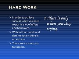 important keys to success hard work