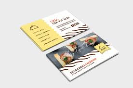 Visiting Card Design For Catering Services Catering Service Business Card Template Psd Ai Vector