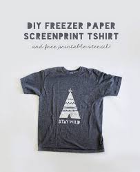 T Shirt Design Ideas Pinterest diy freezer paper stencil tshirt free printable he and i