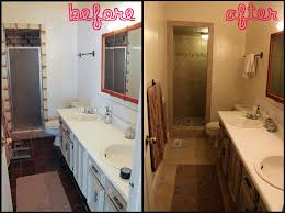 Enchanting Bathroom Remodeling Ideas Before And After With - Small bathroom redos
