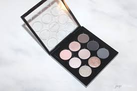 dark stormy a look feat the mac smoky metallic x9 palette a pop of colour