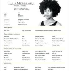 Resume Examples For Actors Part 150 Resume Template For High School Students