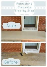 patio makeover painted concrete porch