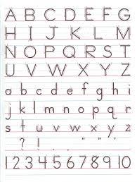 Manuscript Letter Formation Chart Kline Lauren Family Resources