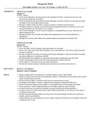 Sample Office Manager Resumes Office Manager Resume Samples Velvet Jobs