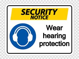 Avis De Sécurité Porter Une Protection Auditive Sur Fond Transparent  Vecteurs libres de droits et plus d'images vectorielles de Bruit - iStock
