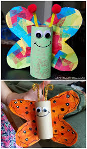 Cardboard tube butterfly craft for kids to make! Perfect for spring or  summer. Use toilet paper rolls or paper towel rolls. - Crafting For Ideas