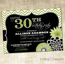 invitation wording for birthday party 30th new birthday party invitation 20th 25th 30th 40th 50th green