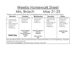 Weekly Homework Weekly Homework Sheet Welcome To Our Website