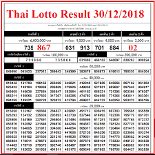 Thai Lottery Chart 2016 Thailand Lottery Results Full Chart 30th December 2018 In