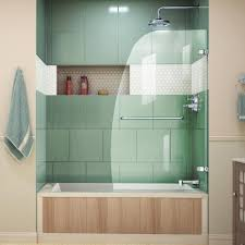 this review is from aqua uno 34 5 16 in x 58 in frameless hinged tub door in chrome