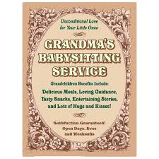 retro gifts for her unique gift ideas for her vintage style grandmas babysitting service tin sign