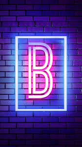 B Neon, B Alphabet, Neon Alphabet, Neon ...